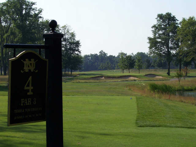 A view from tee #4 from Warren Golf Course At Notre Dame