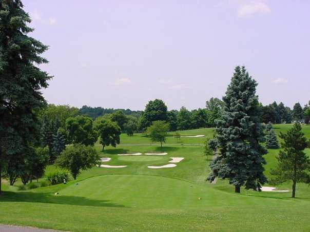 A view of fairway and green at Steubenville Country Club