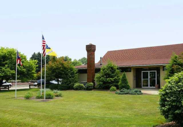 A view of the clubhouse at Fox Den Golf Course