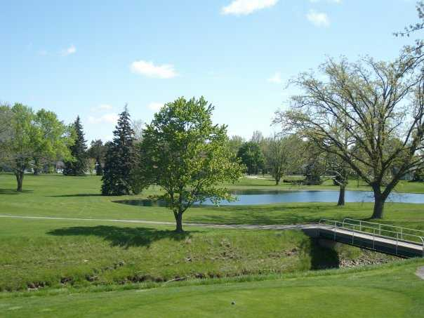 A view from Willow Bend Country Club with bridge on the right side