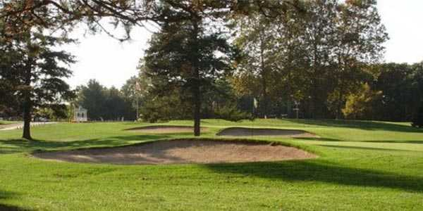 A view of the 18th green at Milham Park Golf Course