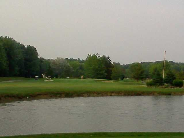 A view of hole #17 from the blue tee at Hilliard Lakes Golf Club