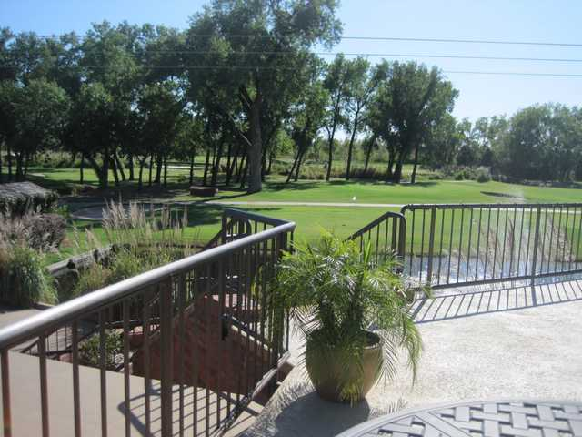 A view from the clubhouse at Trails Golf Club