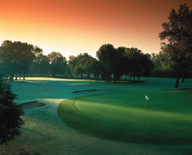 A view of green at Trails Golf Club