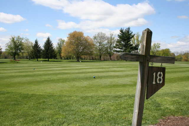 A view of tee #18 at Kimberton Golf Club