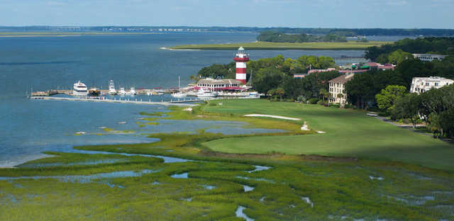 View from 18th at Harbour Town Golf Links at Sea Pines Resort