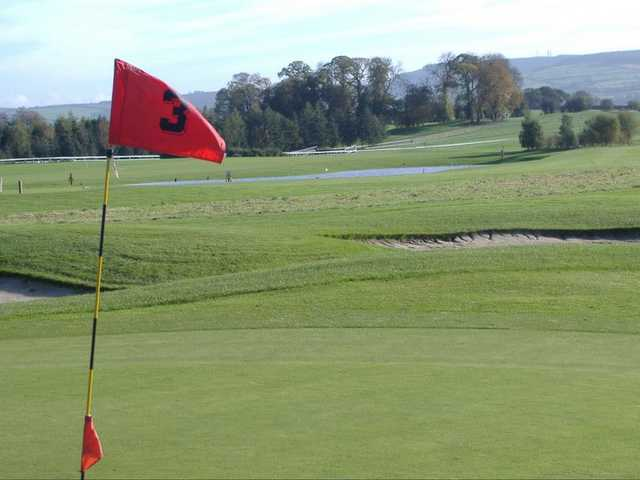 A view from green #3 at Gowran Park Golf and Race Course.