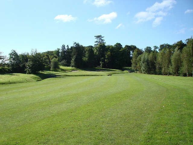 A view of fairway and green #4 at Gowran Park Golf and Race Course.