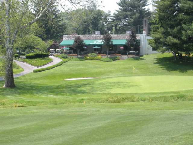 A view of green #18 at Bala Golf Club