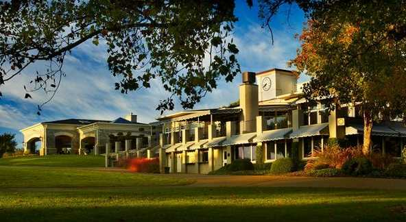A view of the clubhouse at Hillwood Country Club
