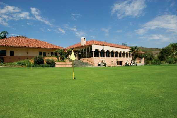 A view of the clubhouse and golf shop at Green River Golf Club