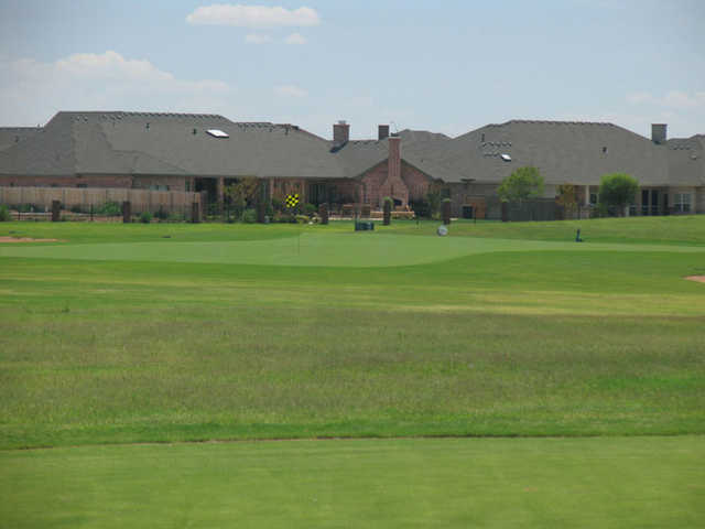 A view of the clubhouse at Nueva Vista Golf Club