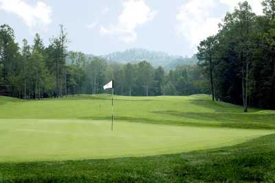 A view of green at Hidden Cove Golf Course from Grayson Lake State Park