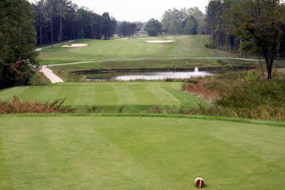 A view from tee at Hidden Cove Golf Course from Grayson Lake State Park