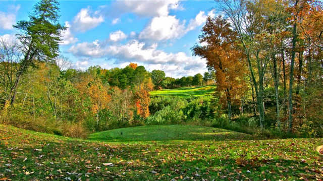 A fall view from Eagle Ridge Golf Course At Yatesville Lake State Park
