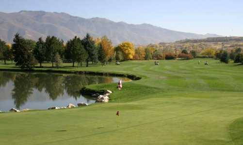 A view of the 17th green at Schneiter's Riverside Golf Course