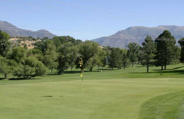 A view of the 9th hole at Schneiter's Riverside Golf Course