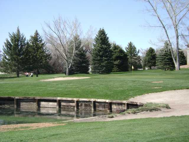 A view of a green at Barn Golf Club