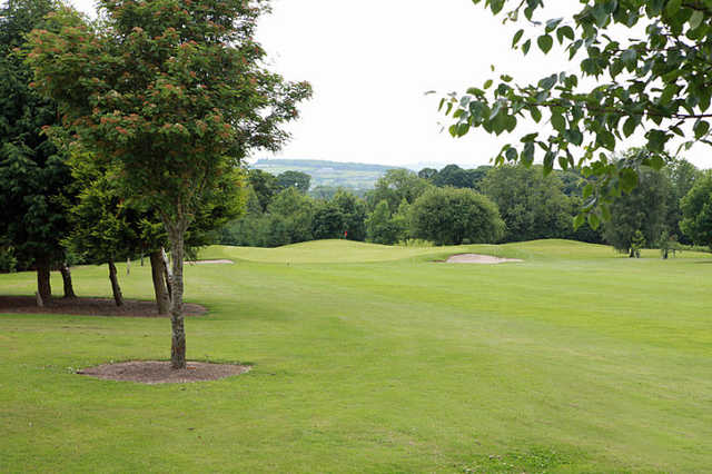 A view of hole #8 at Castlewarden Golf Club