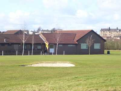 A view of green protected by bunker at Cowdenbeath Golf Club