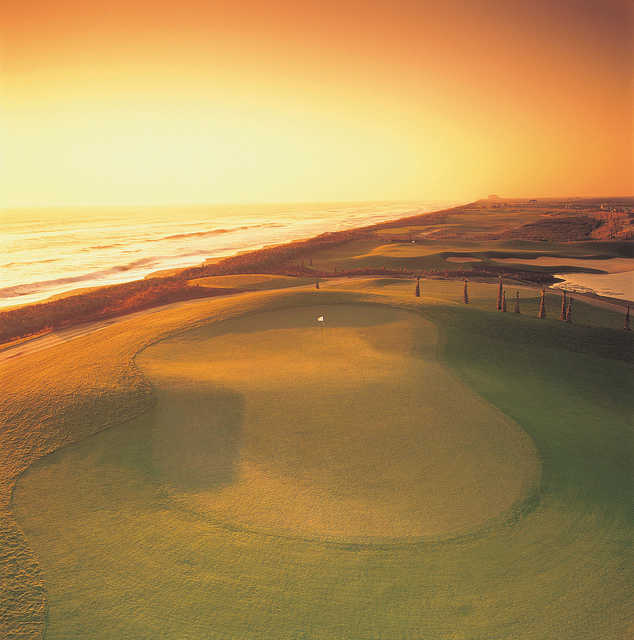 The 15th hole on Hammock Beach Resort's Ocean golf course is an uphill par 4 that is one of the most challenging on the back nine.