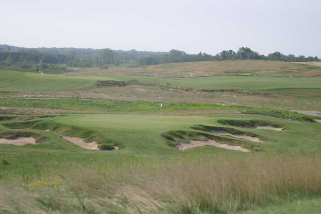 The 165-yard ninth is the shortest hole at Erin Hills GC, which is the site of the 2017 U.S. Open.