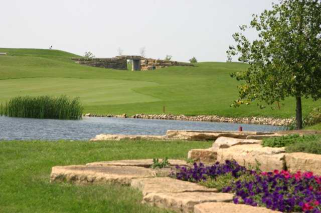 A view of hole #8 at Summit Golf Club