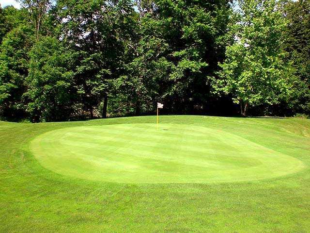 A view of a green at Turkey Run Golf Club