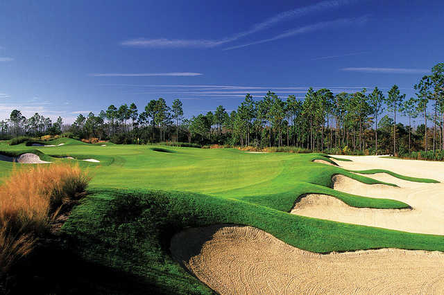 At 636 yards, the 10th is the longest hole on Hammock Beach Resort's Conservatory golf course.