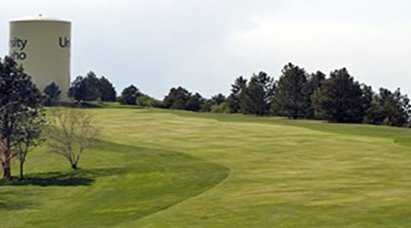 A view of the 4th fairway at University of Idaho Golf Course