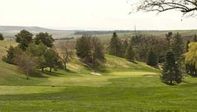 A view of hole #10 at University of Idaho Golf Course