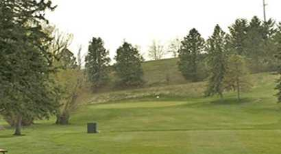 A view of the 14th green at University of Idaho Golf Course