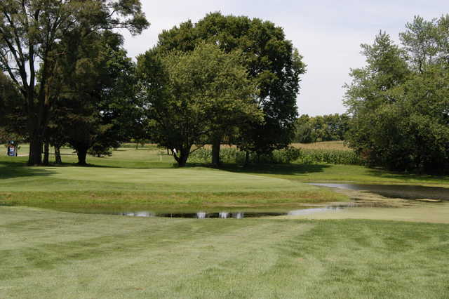 A view of the 12th green at Sugar Isle Golf Course