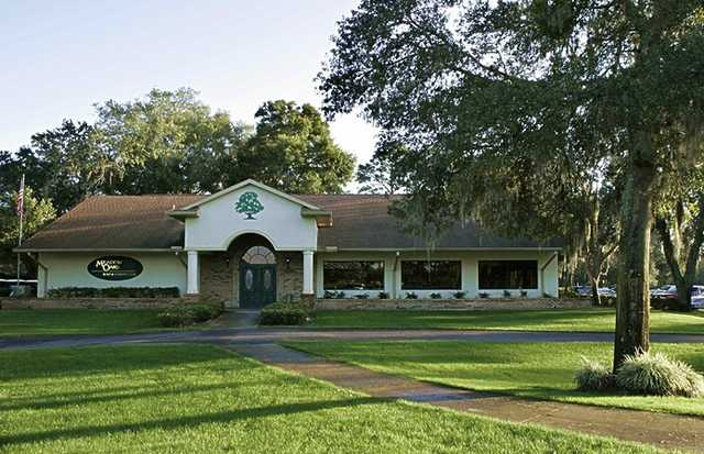 A view of the clubhouse at Meadow Oaks Golf & Country Club