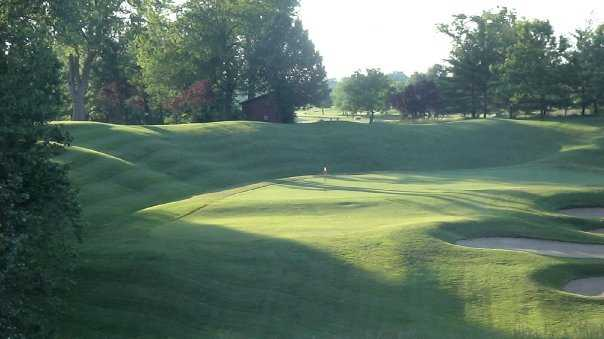 A view of the 5th green at Spencer T. Olin Golf Course