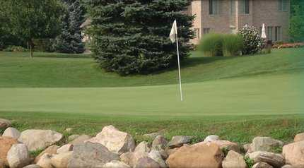 A view of a hole at Players Club from Woodland Trails