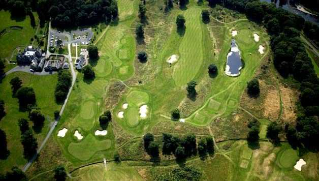 Aerial view from SCHLOSS Roxburghe Golf Course