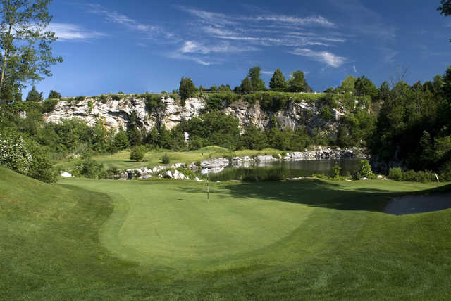 The 11th hole at Crystal Springs Golf Club is arguably the most scenic at the Crystal Springs Golf Resort.