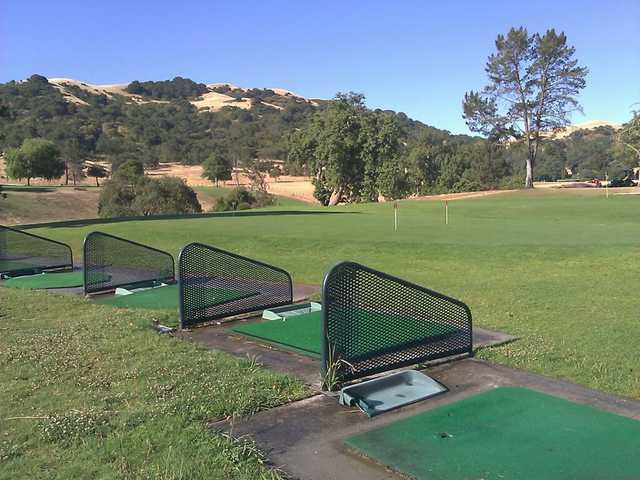 A view of the driving range tees at Gavilan Golf Course