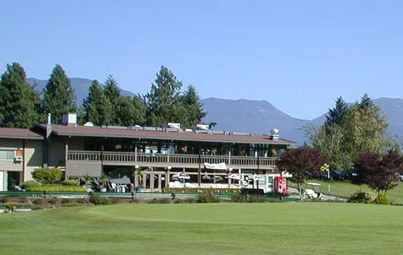 A view of the clubhouse at Chilliwack Golf Club