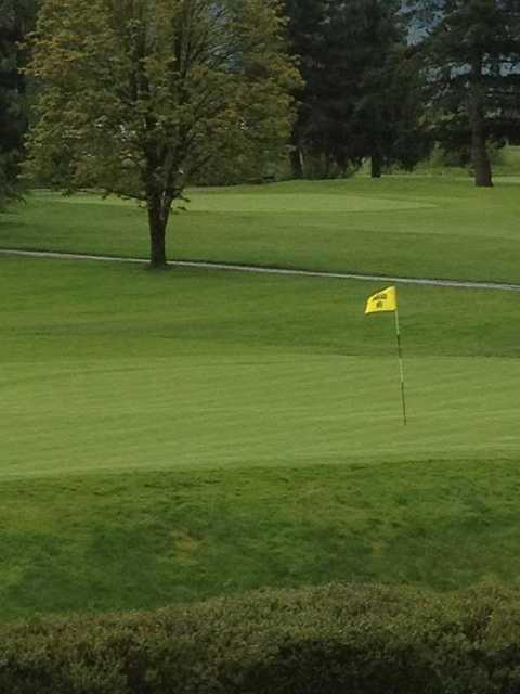 A view of the 9th green at Chilliwack Golf Club