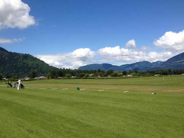 A view of the driving range at Chilliwack Golf Club