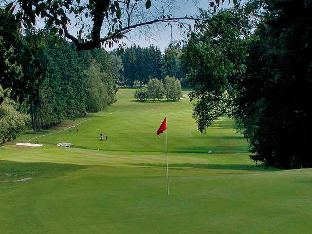 A view of the 7th green from the Championship Course at Royal Golf Club Marianske Lazne