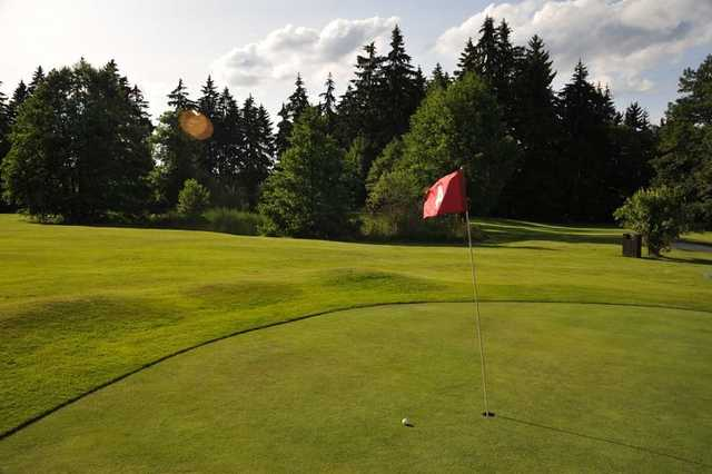 A view of the 4th green from the Chip & Putt course at Royal Golf Club Marianske Lazne
