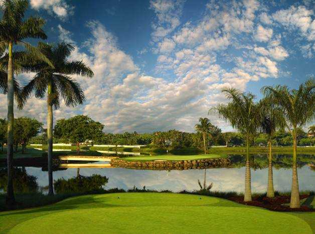 14th hole on Jim McLean Signature Course at Trump National Doral Miami