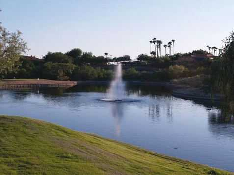 Only the par-4 10th hole at The Views Golf Club at Oro Valley has a water hazard coming into play.
