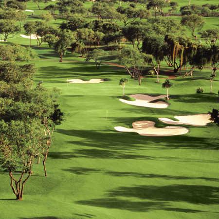 Ewa Beach GC: Aerial view of the 2nd hole