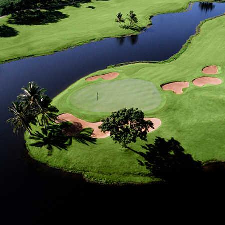 Ewa Beach GC: Aerial view of the 10th green