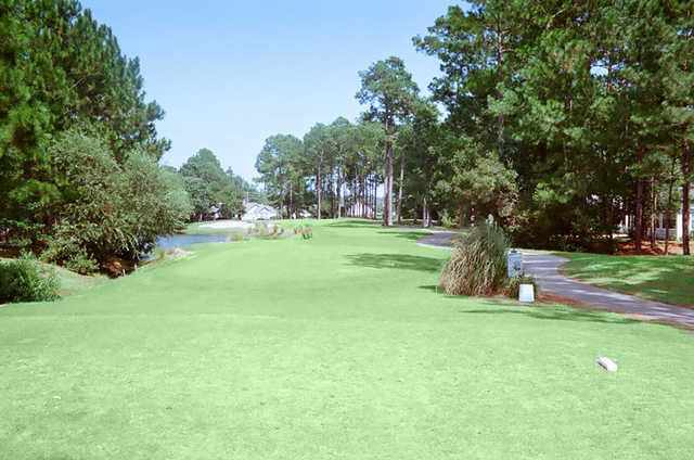 A view of fairway #11 at Heron Point Golf Club