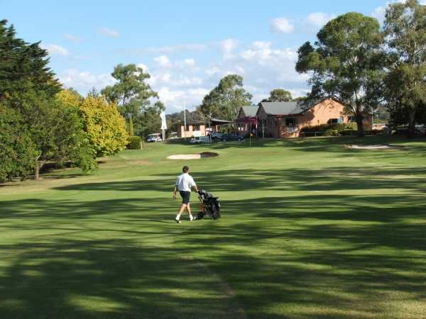 A view from the 18th fairway at Armidale Golf Club